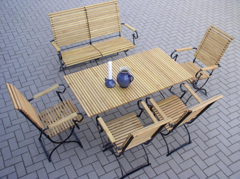 wetterfeste gartenmöbel aus metall | robinienholz | gartenbank, Gartenmöbel