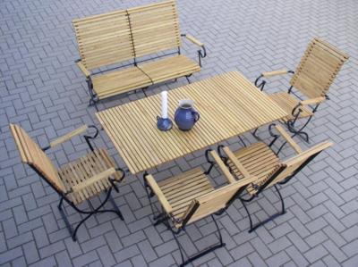 gartengarnitur mit gartenbank. Black Bedroom Furniture Sets. Home Design Ideas